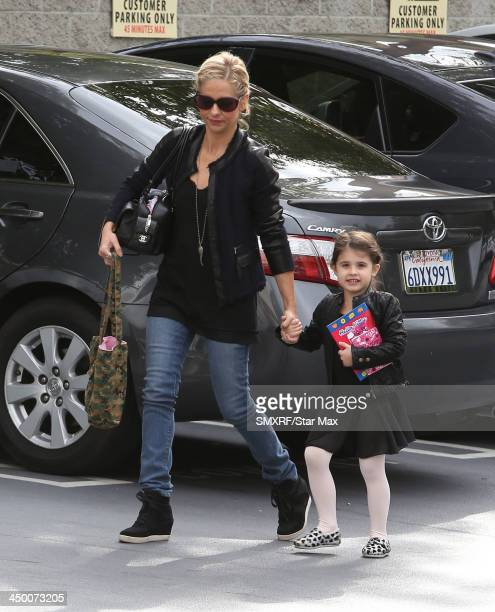 Actress Sarah Michelle Gellar and her daughter Charlotte Prinze are seen on November 16 2013 in Los Angeles California
