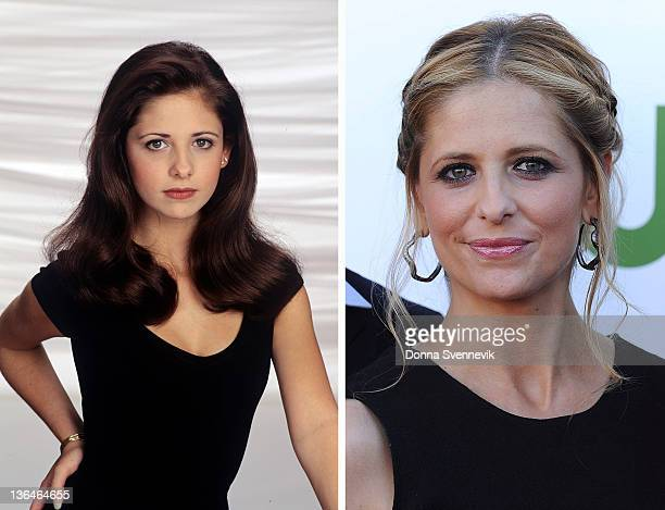In this composite image a comparison has been made of actress Sarah Michelle Gellar Many of today's leading Hollywood stars began their careers in...
