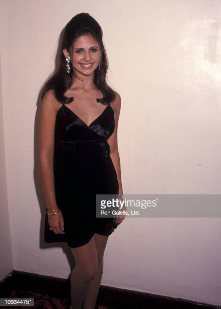 Actress Sarah Michelle Gellar attend the Professional Children's School Honors Brooke Astor on April 25 1994 at the Manhattan Center in New York City