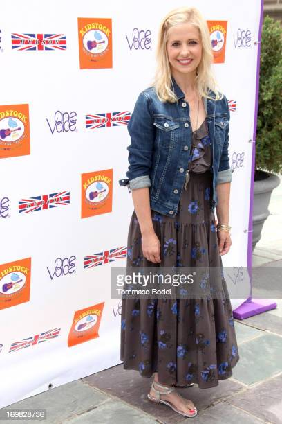 Actress Sarah Michelle Gellar attends the 7th annual Kidstock Music and Art Festiva held at the Greystone Mansion on June 2 2013 in Beverly Hills...
