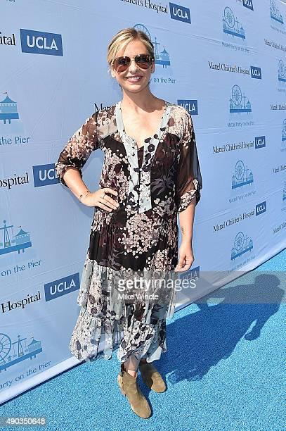 Actress Sarah Michelle Gellar attends the Mattel Party On The Pier at Santa Monica Pier on September 27 2015 in Santa Monica California