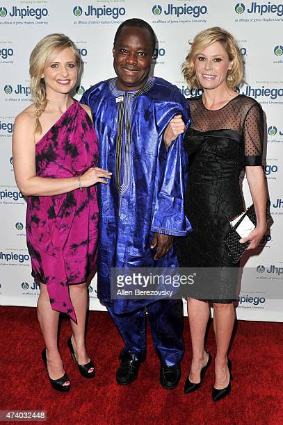 Actress Sarah Michelle Gellar Dr Alain Damiba and Julie Bowen attend Jhpiego's 'Laughter Is The Best Medicine' event at Regent Beverly Wilshire Hotel...