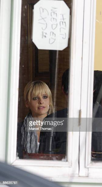 Actress Sarah Michelle Gellar is seen on the set of the new HBO show The Wonderful Maladys on the streets of Manhattan on May 12 2009 in New York City