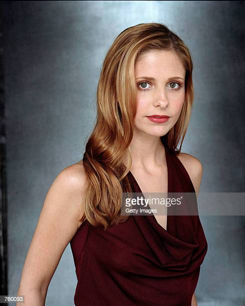 """Actress Sarah Michelle Gellar poses for a publicity still for the UPN television series """"Buffy The Vampire Slayer."""""""
