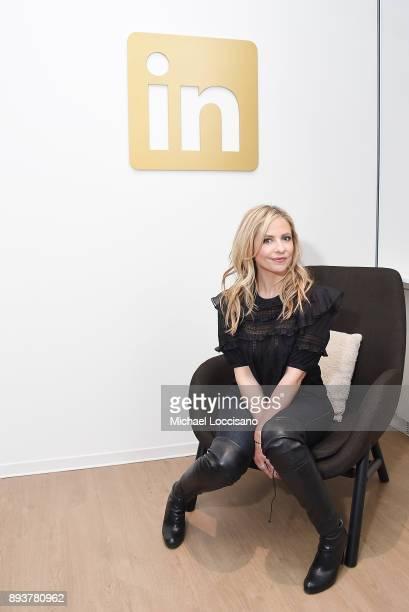 Actress Sarah Michelle Gellar visits the LinkedIn studios on December 15 2017 in New York City