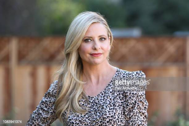 Actress Sarah Michelle Geller visits Hallmark's 'Home Family' at Universal Studios Hollywood on December 17 2018 in Universal City California