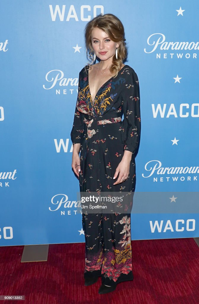 Actress Sarah Minnich attends the 'Waco' world premiere at Jazz at Lincoln Center on January 22, 2018 in New York City.
