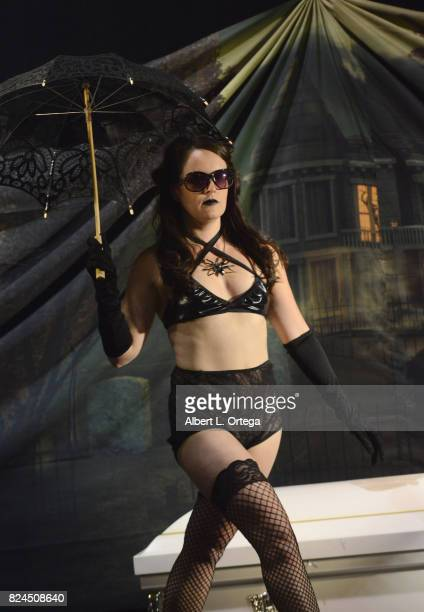 Actress Sarah Nicklin attends Day 1 of Midsummer Scream Halloween Festival held at Long Beach Convention Center on July 29 2017 in Long Beach...