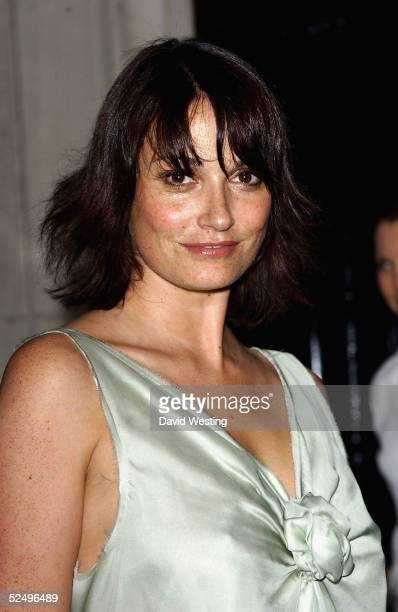 Actress Sarah Parish arrives at The British Academy Television Awards 2005 Nominees Reception at the Savoy Hotel on March 30, 2005 in London.