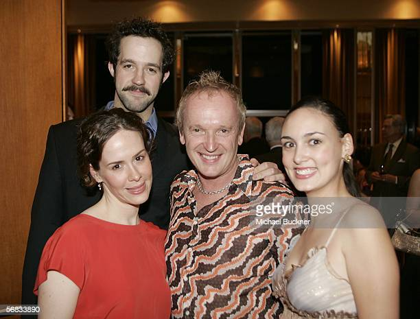 Actress Sarah Paulson actor Peter Cambor director Sean Mathias and actress Rebecca Mozo attend the after party for the opening of The Cherry Orchard...