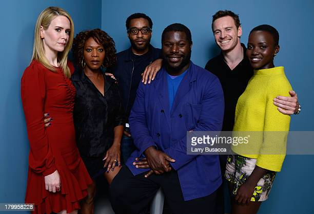 Actress Sarah Paulson actress Alfre Woodard actor Chiwetel Ejiofor director Steve McQueen actor Michael Fassbender and actress Lupita Nyong'o of '12...
