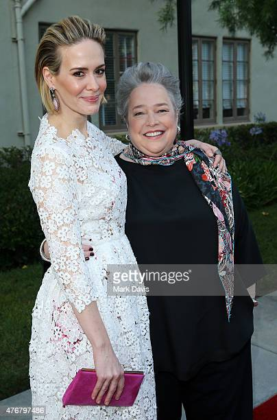 Actress Sarah Paulson and actress Kathy Bates attend the 'For Your Consideration' special screening and QA for FX's 'American Horror Story Freakshow'...