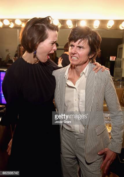 Actress Sarah Paulson and comedian Tig Notaro backstage at the Family Equality Council's Impact Awards at the Beverly Wilshire Hotel on March 11 2017...