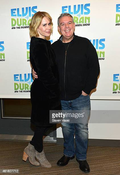 Actress Sarah Paulson and host Elvis Duran visit 'The Elvis Duran Z100 Morning Show' at Z100 Studio on January 20 2015 in New York City