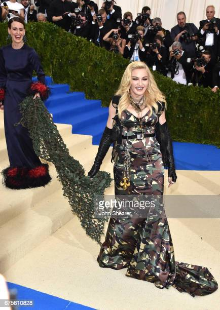 Actress Sarah Paulson and singer Madonna attend 'Rei Kawakubo/Comme des Garcons Art Of The InBetween' Costume Institute Gala at Metropolitan Museum...