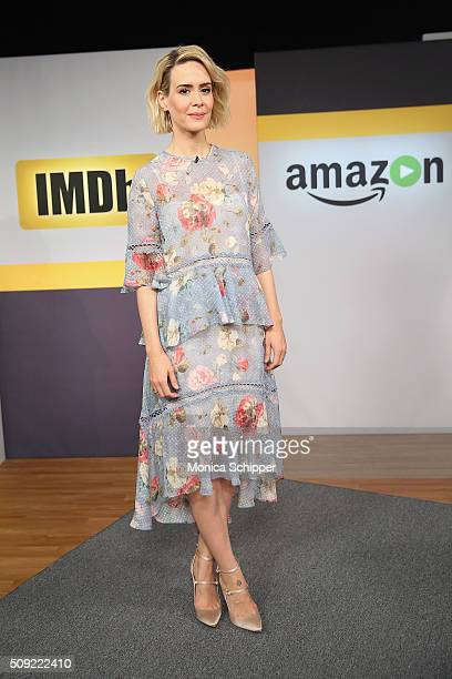 Actress Sarah Paulson appears On IMDb Asks on February 9 2016 in New York City