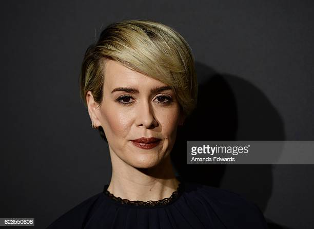 Actress Sarah Paulson arrives at a screening of David O Russell's Past Forward hosted by Prada at Hauser Wirth Schimmel on November 15 2016 in Los...