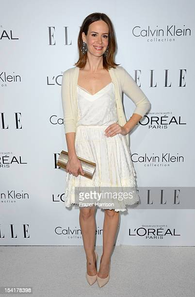 Actress Sarah Paulson arrives at ELLE's 19th Annual Women In Hollywood Celebration at the Four Seasons Hotel on October 15 2012 in Beverly Hills...
