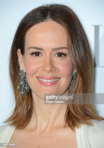 Actress Sarah Paulson arrives at ELLE's 19th Annual Women In Hollywood Celebration at the Four Seasons Hotel on October 15, 2012 in Beverly Hills,...