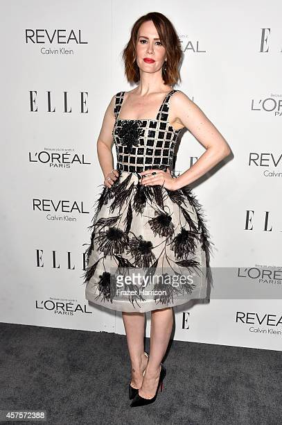 Actress Sarah Paulson arrives at ELLE's 21st Annual Women In Hollywood at Four Seasons Hotel Los Angeles at Beverly Hills on October 20 2014 in...