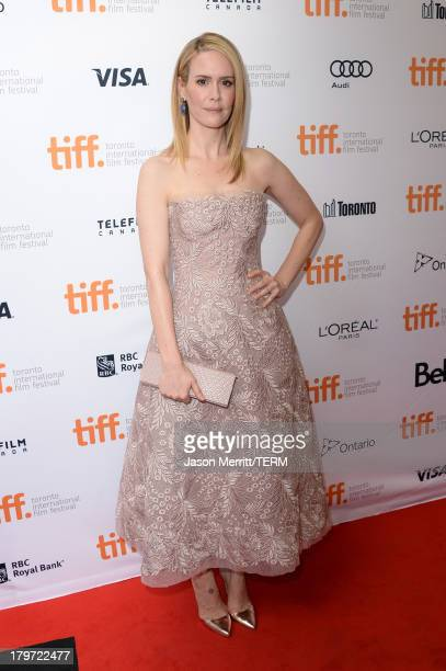 Actress Sarah Paulson arrives at the 12 Years A Slave Premiere during the 2013 Toronto International Film Festival Princess of Wales Theatre on...