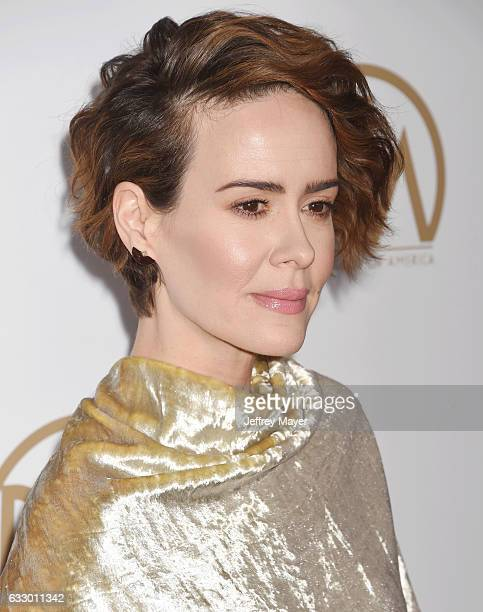 Actress Sarah Paulson arrives at the 28th Annual Producers Guild Awards at The Beverly Hilton Hotel on January 28 2017 in Beverly Hills California
