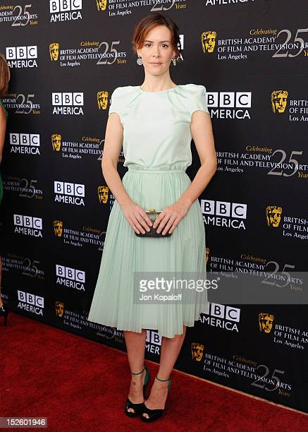 Actress Sarah Paulson arrives at the BAFTA Los Angeles TV Tea 2012 Presented By BBC America at The London Hotel on September 22 2012 in West...