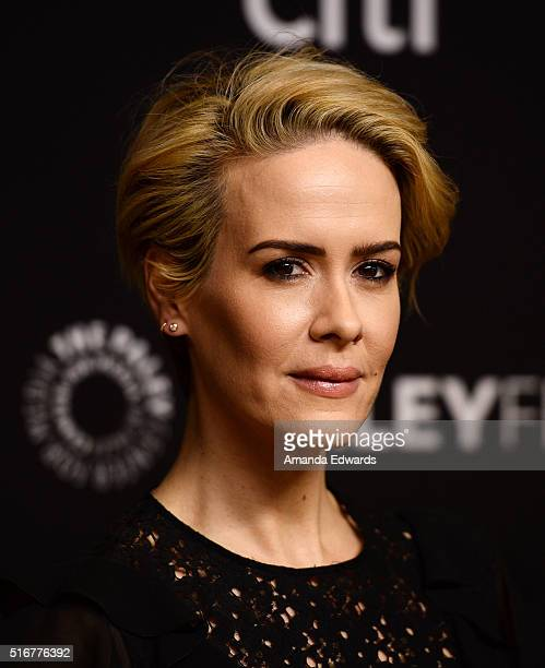 Actress Sarah Paulson arrives at The Paley Center For Media's 33rd Annual PaleyFest Los Angeles Closing Night Presentation of 'American Horror Story...
