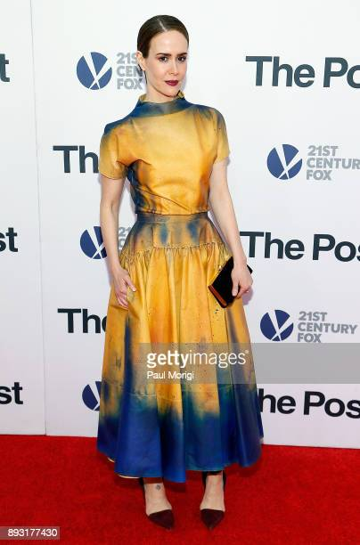 Actress Sarah Paulson arrives at 'The Post' Washington DC Premiere at The Newseum on December 14 2017 in Washington DC