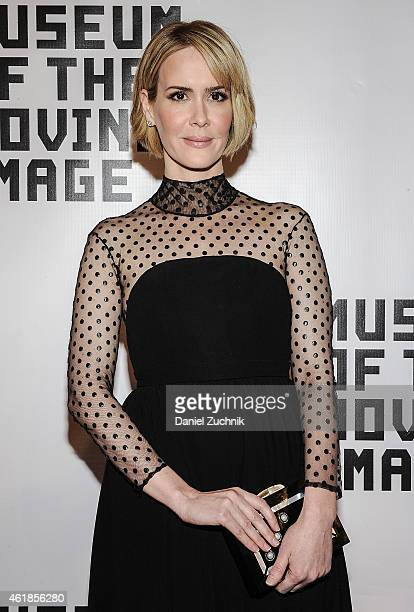Actress Sarah Paulson attends as Museum Of The Moving Image Honors Julianne Moore at 583 Park Avenue on January 20 2015 in New York City