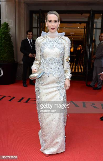 Actress Sarah Paulson attends as The Mark Hotel celebrates the 2018 Met Gala at The Mark Hotel on May 7 2018 in New York City