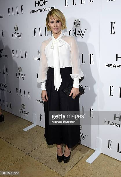 Actress Sarah Paulson attends ELLE's Annual Women in Television Celebration on January 13 2015 at Sunset Tower in West Hollywood California Presented...