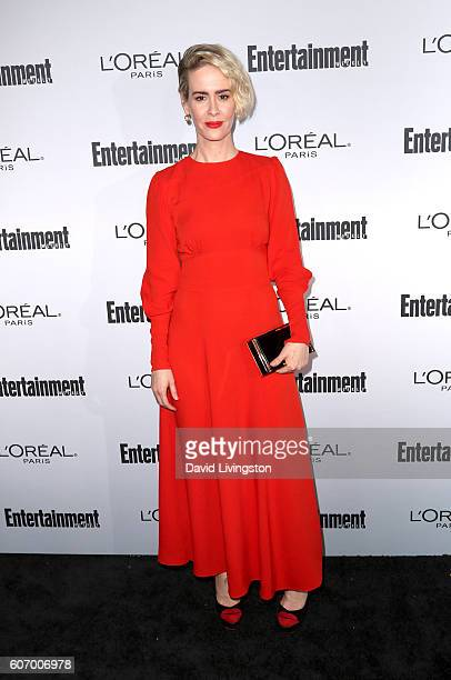 Actress Sarah Paulson attends Entertainment Weekly's 2016 Pre-Emmy Party at Nightingale Plaza on September 16, 2016 in Los Angeles, California.