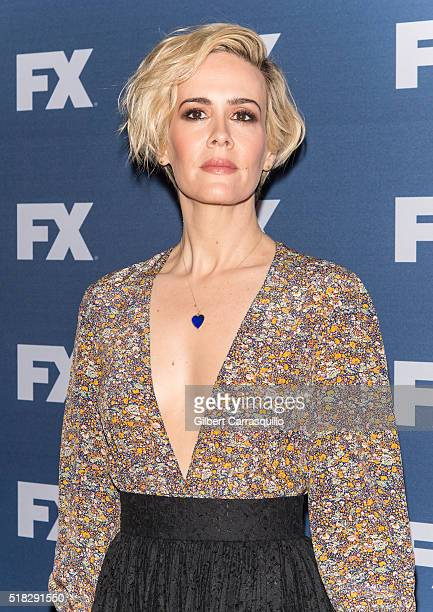 Actress Sarah Paulson attends FX Networks Upfront screening of The People v OJ Simpson American Crime Story at AMC Empire 25 theater on March 30 2016...