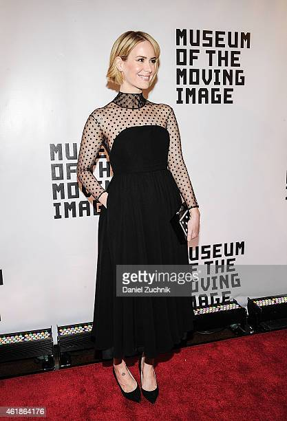 Actress Sarah Paulson attends Museum Of The Moving Image Honors Julianne Moore at 583 Park Avenue on January 20 2015 in New York City