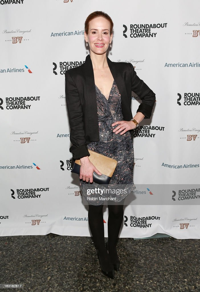 Actress Sarah Paulson attends 'Talley's Folly' Opening Night at Laura Pels Theatre at the Harold & Miriam Steinberg Center for on March 5, 2013 in New York City.