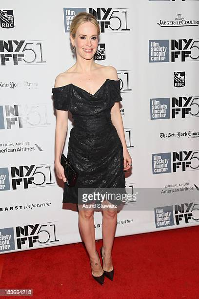 Actress Sarah Paulson attends the 12 Years A Slave premiere during the 51st New York Film Festival at Alice Tully Hall at Lincoln Center on October 8...