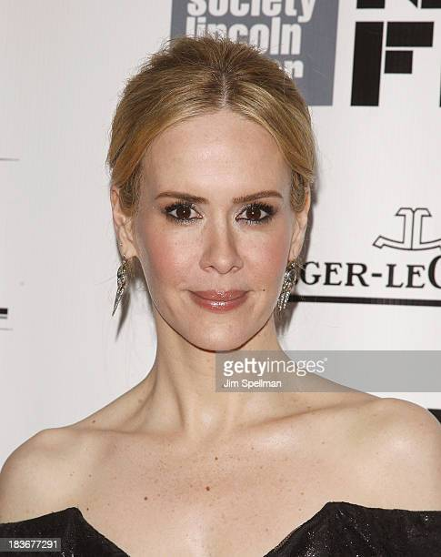 Actress Sarah Paulson attends the '12 Years A Slave' Premiere during the 51st New York Film Festival at Alice Tully Hall at Lincoln Center on October...