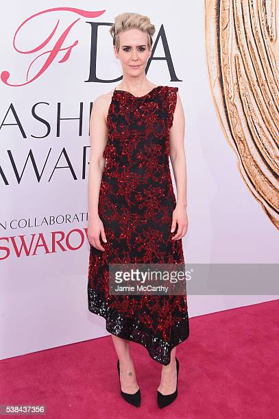Actress Sarah Paulson attends the 2016 CFDA Fashion Awards at the Hammerstein Ballroom on June 6 2016 in New York City
