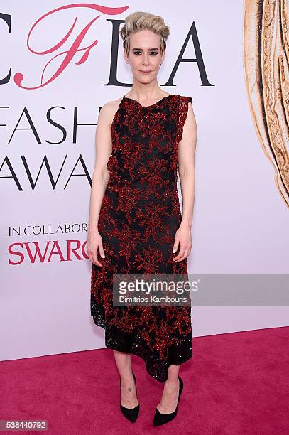 Actress Sarah Paulson attends the 2016 CFDA Fashion Awards at the Hammerstein Ballroom on June 6, 2016 in New York City.