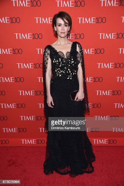 Actress Sarah Paulson attends the 2017 Time 100 Gala at Jazz at Lincoln Center on April 25 2017 in New York City