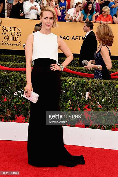 Actress Sarah Paulson attends the 21st Annual Screen Actors Guild Awards at The Shrine Auditorium on January 25 2015 in Los Angeles California