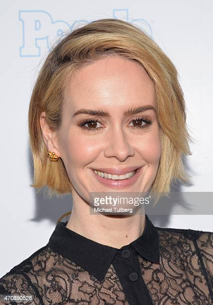 Actress Sarah Paulson attends the 36th College Television Awards at Skirball Cultural Center on April 23 2015 in Los Angeles California