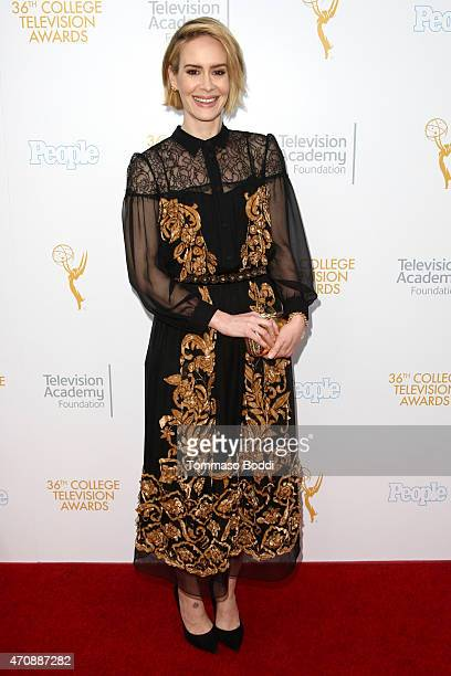Actress Sarah Paulson attends the 36th College Television Awards held at the Skirball Cultural Center on April 23, 2015 in Los Angeles, California.