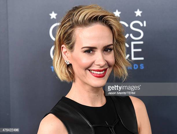 Actress Sarah Paulson attends the 5th Annual Critics' Choice Television Awards at The Beverly Hilton Hotel on May 31, 2015 in Beverly Hills,...