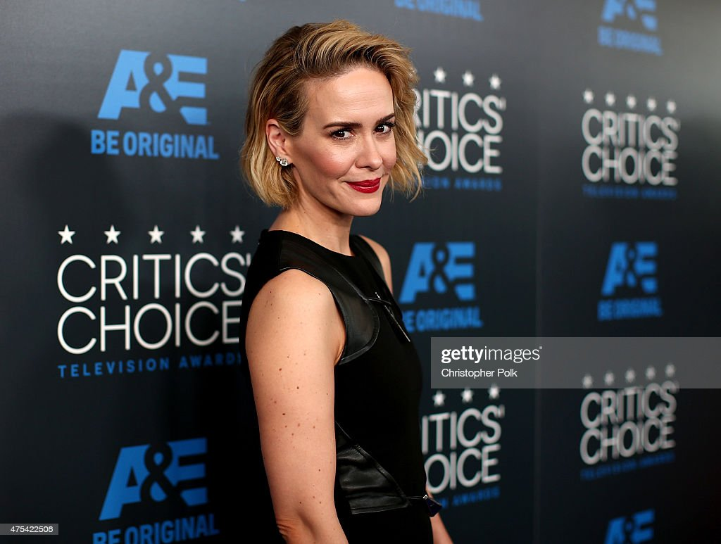 Actress Sarah Paulson attends the 5th Annual Critics' Choice Television Awards at The Beverly Hilton Hotel on May 31, 2015 in Beverly Hills, California.