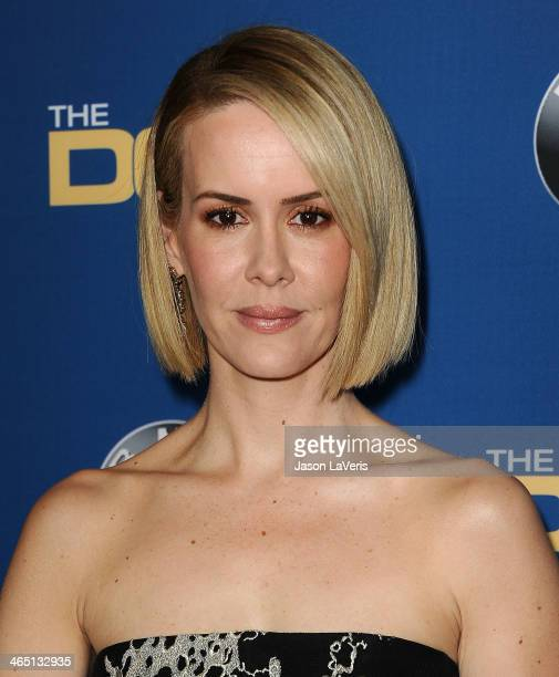 Actress Sarah Paulson attends the 66th annual Directors Guild of America Awards at the Hyatt Regency Century Plaza on January 25 2014 in Century City...