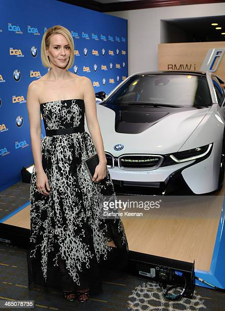 Actress Sarah Paulson attends the 66th Annual Directors Guild Of America Awards held at the Hyatt Regency Century Plaza on January 25 2014 in Century...