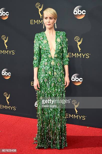 Actress Sarah Paulson attends the 68th Annual Primetime Emmy Awards at Microsoft Theater on September 18 2016 in Los Angeles California
