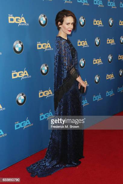 Actress Sarah Paulson attends the 69th Annual Directors Guild of America Awards at The Beverly Hilton Hotel on February 4 2017 in Beverly Hills...